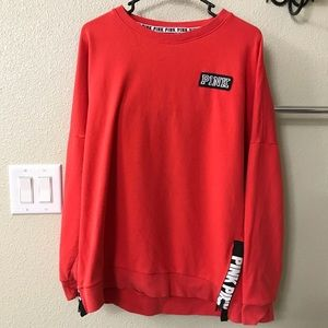 Girls  red PINK brand  sweater with black letters